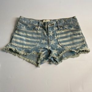 Roxy Denim Blue Jean Cut Off Shorts Size 3/26